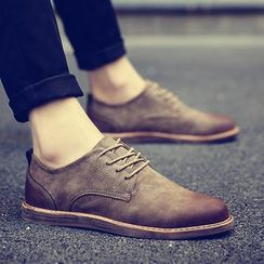 Chariot - Faux-Suede Oxford Shoes