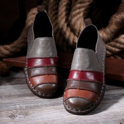 LARKSPUR - 插色真皮樂福鞋