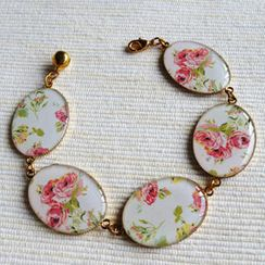 MyLittleThing - Gold Vintage Flower Bracelet