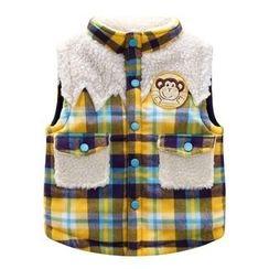Endymion - Kids Fleece Lined Plaid Vest