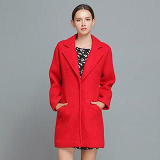 YiGelila - Wool-Blend Notched Lapel Coat