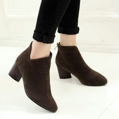 錦洋鞋業 - 粗跟短靴