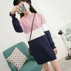 EFO - Color-Block Long Sweater
