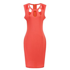 LIVA GIRL - Sleeveless Cut Out Sheath Dress