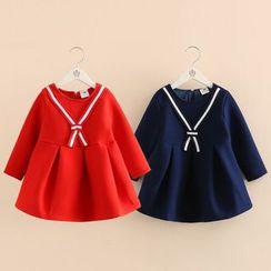 Seashells Kids - Kids Long Sleeve A-line Dress