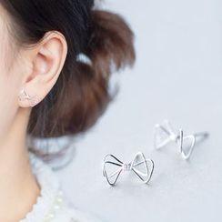 A'ROCH - Double Bow Stud Earrings