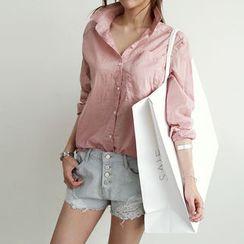 NANING9 - Cotton Pink Shirt