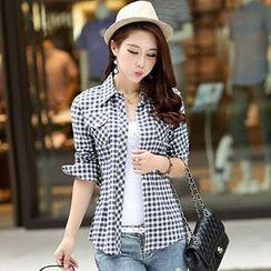 Carreau - Slim Fit Plaid Shirt