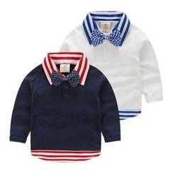 Seashells Kids - Kids Mock Two-Piece Long-Sleeve Polo Shirt