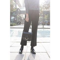 CHERRYKOKO - Slit-Hem Straight-Cut Dress Pants