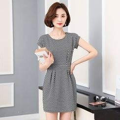 Flore - Short-Sleeve Patterned Dress