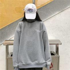 COMON - Embroidered Turtleneck Sweatshirt