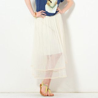 59 Seconds - Layered Tulle Midi Skirt
