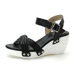 MODELSIS - Braided Cross-Strap Wedge Sandals