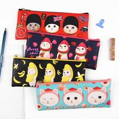 BABOSARANG - 'Choo Choo' Cat Series Pencil Pouch