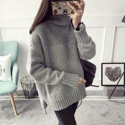 Qimi - 高領長款毛衣