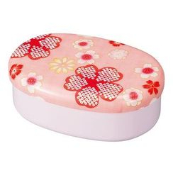 Hakoya - Hakoya Nunobari Oval Lunch Box Yume Sakura (Pink)