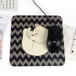 Full House - Cat-Print Mouse Pad