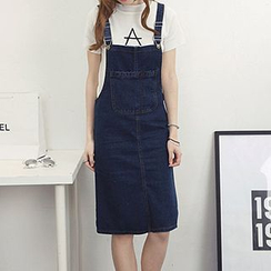 Honey House - Pinafore Denim Dress