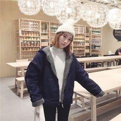 Eva Fashion - Fleece-lined Denim Coat