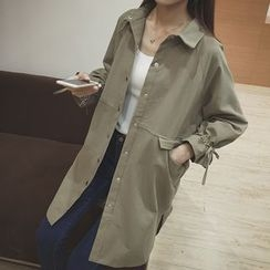 Eva Fashion - Plain Collared Coat