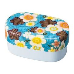 Hakoya - Hakoya Nunobari Oval Lunch Box Large Kaga Sakura (Blue)