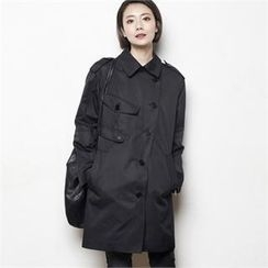 HALUMAYBE - Single-Button Trench Coat