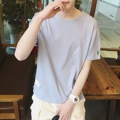 Mitouomo - Embroidered Short Sleeve T-Shirt