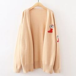 ninna nanna - Cat Embroidered Cardigan