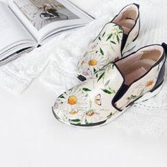 NIPONJJUYA - Flower Print Sneakers