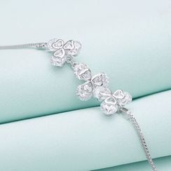 Zundiao - Sterling Silver Clover Bracelet