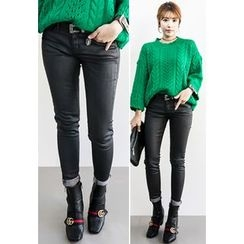 INSTYLEFIT - Coated Fleece-Lined Skinny Pants