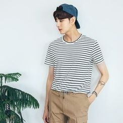 DANGOON - Short-Sleeve Stripe T-Shirt