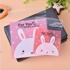 Ivyknoll - Rabbit Print Bakery Packing Bag Set(100 pcs)