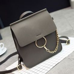 Little Days - Chained Faux Leather Backpack