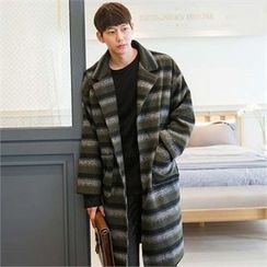 STYLEMAN - Single-Breasted Stripe Coat