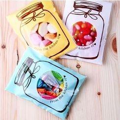 Ivyknoll - 印花烘焙用包裝袋套裝(100件)