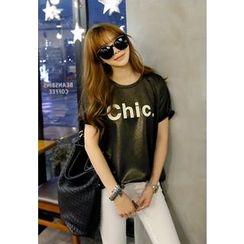 REDOPIN - Glitter Short-Sleeve T-Shirt