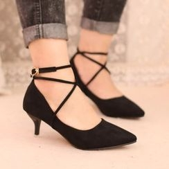 IYATO - Cross-Strap Pumps