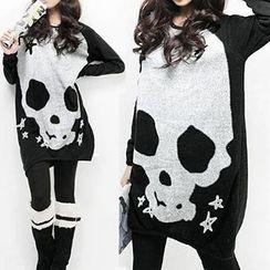 Rebecca - Skull Print Long-Sleeve Top