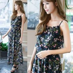 Dowisi - Floral Print Strap Dress
