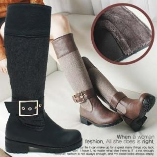 Reneve - Wool-Blend Knee-High Riding Boots