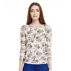 O.SA - Long-Sleeve Floral Top