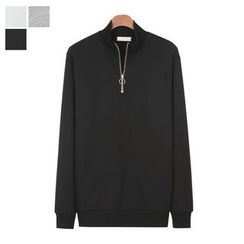 DANGOON - Zipped Mock-Neck Pullover