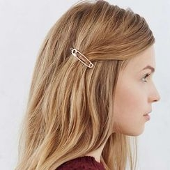 Gold Beam - Safety Pin Hair Clip