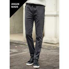 JOGUNSHOP - Drawstring Fleece-Lined Pants