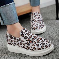 Gizmal Boots - 豹纹印花轻便鞋