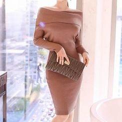 Aurora - 露肩針織連衣裙