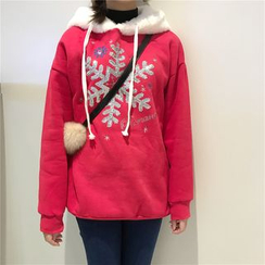 Eva Fashion - Sequined Snowflake Hoodie