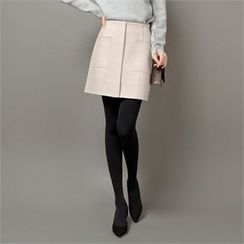 Styleberry - Pocket-Front Mini Skirt